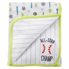 Carter's Just One You Reversible Receiving Blanket ~ Baseball ~ All-Star Champ