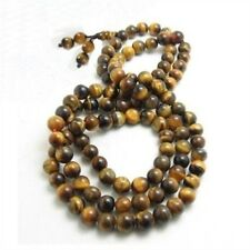 Delicate Tibetan 108 6mm Tiger Eye Yoga Meditation Prayer Beads Mala Necklace