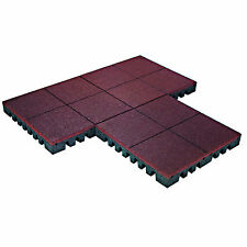 PlayFall Playground Rubber Tiles - Terra Cotta 2.5-inch Safety Surfacing (20 sq.