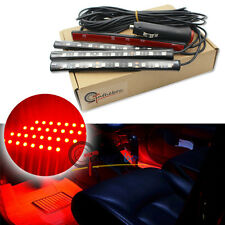 Red LED Car Interior Under Dash Foot Lighting Kit | LED Accent Light, 4 x 6""