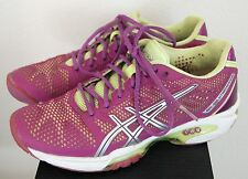 Womens ASICS E450Y Gel-Solution Speed 2 Purple/Silver Tennis Sneakers Sz US 6