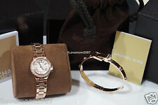 Michael Kors Mini Camille Rose Gold Watch MK3253 Matching Bracelet MK BOX $325+