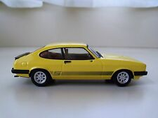 VANGUARDS - FORD CAPRI MK III 3.0s - SIGNAL YELLOW - 1/43 DIECAST MODEL