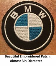 **LOVE IT OR IT'S FREE** BMW  Iron on Patch embroidered on Black Fabric, Free Sh