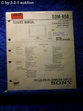 Sony Service Manual SDM N50 Color Computer Display (#2628)