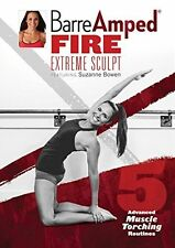 BARREAMPED BARRE AMPED FIRE EXTREME SCULPT EXERCISE DVD SUZANNE BOWEN NEW SEALED