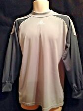 MENS ADIDAS CLIMALITE FORMOTION SPORT SHIRT LONG SLEEVE PADDED ELBOW SIZE S GRAY