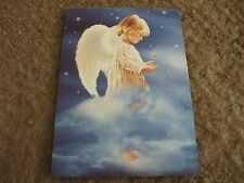 "6 child angel christmas cards 7""x5"" by tree free greetings"