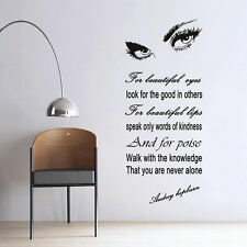 Removable Room Decor Audrey Hepburn Womens Eyes Wall Sticker Wall Decal