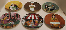Set of 6 Bouillabaisse GBC Guy Buffet Collection Porcelain Plates Made in Japan