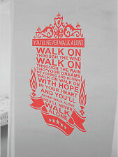 Liverpool Wall Art Sticker You'll Never Walk Alone