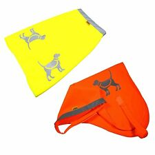 HQRP Orange or Yellow Reflective Safety Dog Fluorescent Vest High Visibility