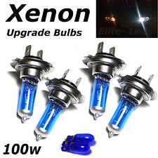 4 x H7 100w Super White Xenon Upgrade Dipped Beam Head Light Bulbs + Sidelights