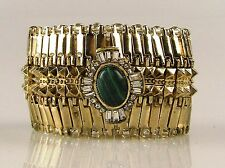 SAMANTHA WILLS Enchanted Twilight Bracelet Emerald Green Gold Cuff +Box +FreeExp