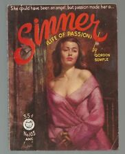 SINNER Gordon Semple 1st Print 1953 Croydon 103 RUDY NAPPI GGA SEXY Negligee Cov