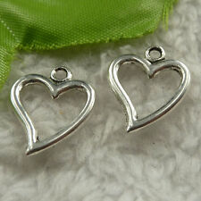 free ship 360 pieces tibet silver heart charms 19x15mm #4284