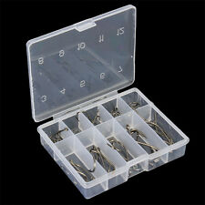 50Pcs/Lot Assorted Barb Fish Hooks Bait Lure Tackle Sharpened Fishing Tools Box