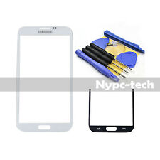 Front Outer Screen Glass Lens for White Samsung Galaxy Note/2 SGH-i317M w/ Tools