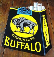 SPANISH HONDURAS MEXICAN MEXICO BRAND BUFFALO CIGARETTES PAPER ADVERTISING SIGN