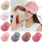 Women Girls Wide Brim Summer Beach Sun Visor Straw Foldable Roll Up Hat Cap Hot