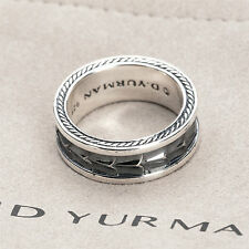 David Yurman Sterling Silver Men Armory Narrow Ring Comes with DY Pouch