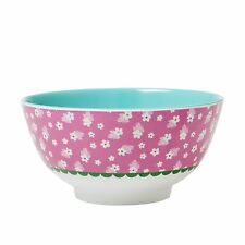 RICE Melamine bowl in pink flower print