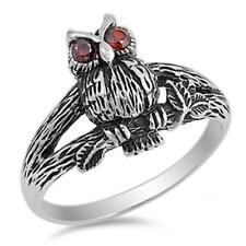 USA Seller Owl Ring Sterling Silver 925 Best Deal Birds Jewelry Size 9