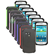 Lot of 7 Hybrid Rugged Rubber Hard Case Cover for Samsung Galaxy S3 S III 3 Mini