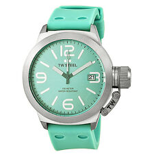 TW Steel Canteen Turquoise Dial Turquoise Silicone Mens Watch TW525