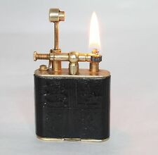 Vintage Alfred Dunhill Unique  Leather Lighter in Working Condition