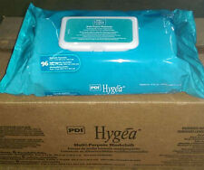 "PDI HYGEA SOLO Multi-Purpose Large Adult Wipes Washcloths 8""x12"" 96/PK Aloe USA"