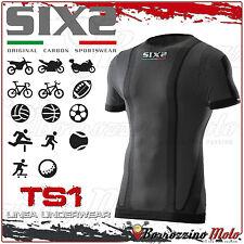 SIXS SIX2 TS1 UNDERWEAR T-SHIRT MAGLIA INTIMA MANICA CORTA BLACK CARBON TAGLIA M