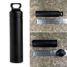 Outdoor Aluminium Case Waterproof Capsule Seal Bottle Holder Protect Container