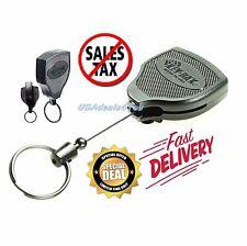 """Retractable Key Tool Reel Holder Steel Clip Chain Belt Heavy Duty Split Ring 48"""""""