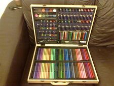 UNIVERSE OF IMAGINATION WOODEN ART CASE COMPLETE UNUSED PENS PENCIL CRAYONS MORE