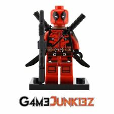 Marvel Deadpool LEGO-Compatible minifigure (w/2 heads-masked, unmasked)