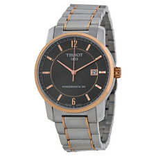 Tissot T-Classic Automatic Black Dial Titanium Mens Watch T0874075506700