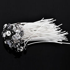 50PCS 8 Inch Candle Wicks Candle Make Cotton Core Pre Waxed With Sustainers