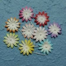 PACK 10 PASTEL DAISY FLOWERS FOR CARDS OR CRAFTS