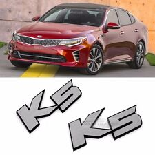 Side Front Trunk Rear Hairline Emblem Point K5 Logo Badge 2p for KIA 2016 Optima