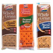 Lance Cracker Sandwiches Variety Pack - Low Fat - Peanut Butter, Cheddar Cheese