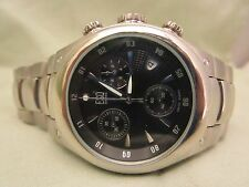 ESQ by MOVADO pattern black dial chronograph all stainless steel 07300855