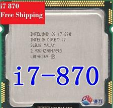 Intel® Core™ i7-870 Processor (8M Cache, 2.93 GHz) Socket 1156