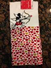 NWT Mickey Mouse kitchen hand towel valentine Disney jumping beans