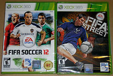 XBox 360 Game Lot - FIFA Soccer 12 (New) FIFA Street (New)