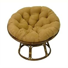 "International Caravan Papasan 42"" Rattan Chair with Cushion-Chocolate"