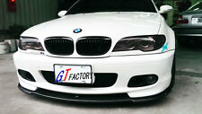 NEW FOR BMW E46 M TECH M SPORT FACELIFT ONLY CARBON FRONT LIP SPOILER