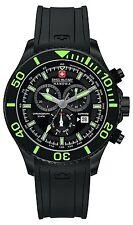 Swiss Military inmersión Reloj para hombres con pantalla con Cronógrafo Dial Negro Y Bla