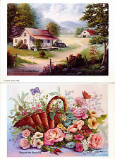 LOT OF 2 ART PRINTS SIGNED BY LOLA JOINER BEHOLD THE BEAUTIFUL & GOOD OLE' DAYS