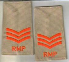ROYAL MILITARY POLICE  SGT DPM CAMO rank epaulettes